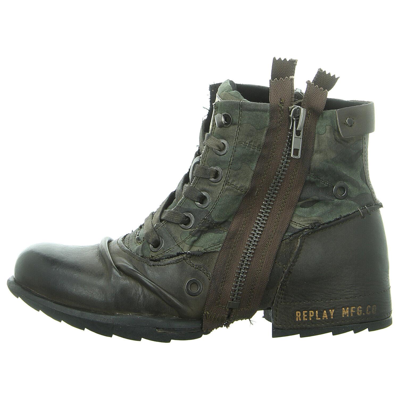 Replay zapatos botas botín clutch gmu01.000.c0003l-2612 mil grn camo