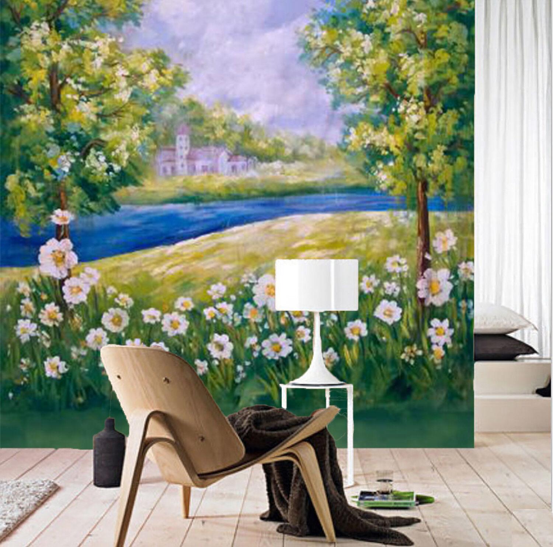 3D Flower Lawn 744 Wallpaper Mural Wall Print Wall Wallpaper Murals US Sunmmer