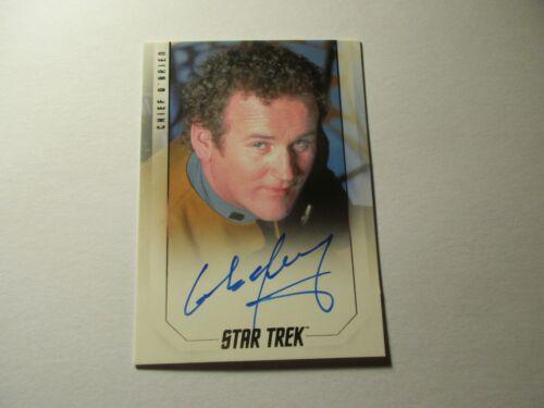 Star Trek Inflexions Starfleet/'s Finest Colm Meaney as O/'Brien Premium Autograph