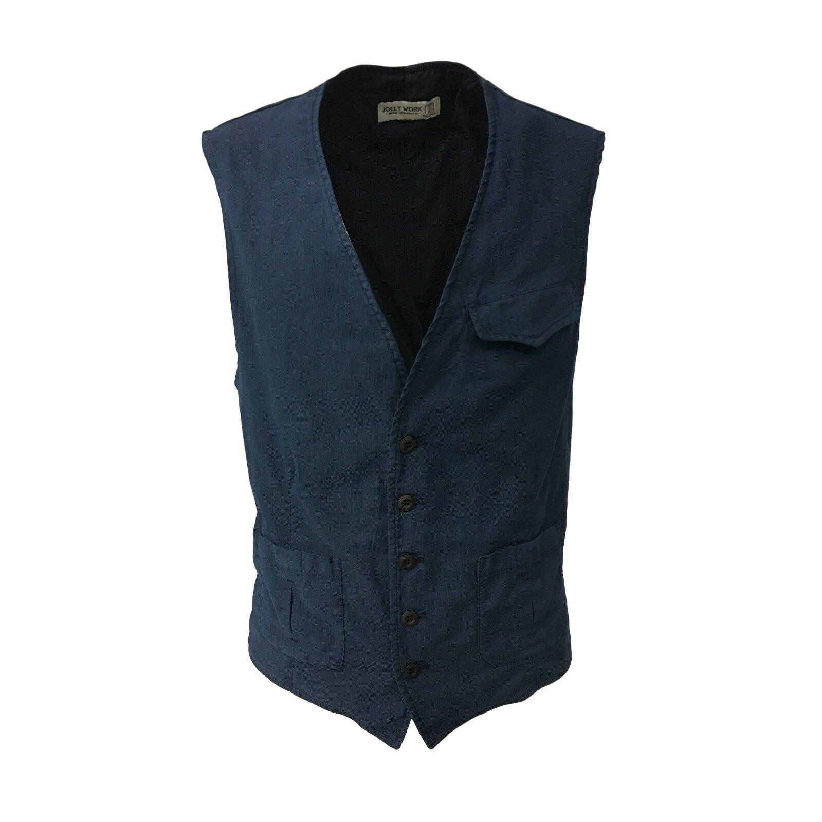 JOLLY WORK vest man bluee mod PUCCINI 98% cotton 2% elastane MADE IN ITALY
