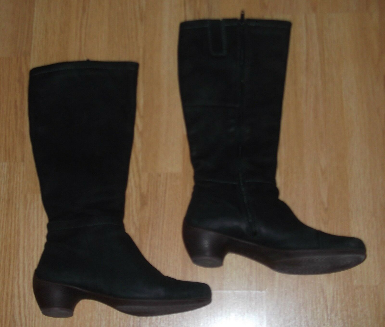 Ecco Damen Stiefel Gr. 39 aus Echtleder, schwarz