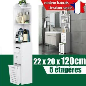 Meuble Colonne de Salle de Bain Armoire Haute Meuble rangement - 22 x 20 x 120cm