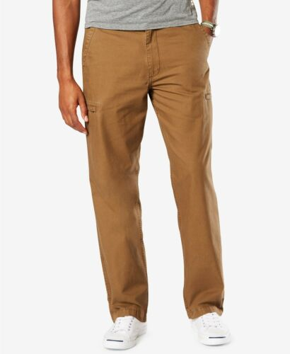 Dockers Men/'s Tobacco Utility Cargo Straight Fit Pants
