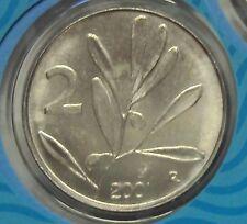 ITALIA REPUBBLICA 1968-2001 SERIE COMPLETA 2 LIRE DA DIVISIONALE ZECCA FDC