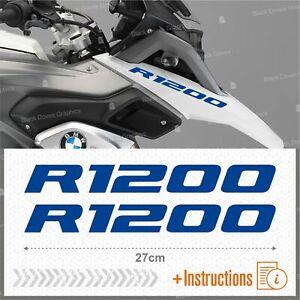 2pcs Adesivi Blu Compatibile Moto Bmw R 1200 Gs Lc R1200 Adventure R1200gs Facile à RéParer