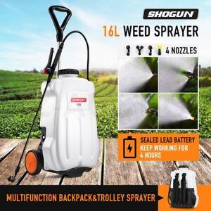 16L-Weed-Sprayer-Garden-Wheel-Backpack-Spot-Trolley-12V-Electric-Farm-Watering