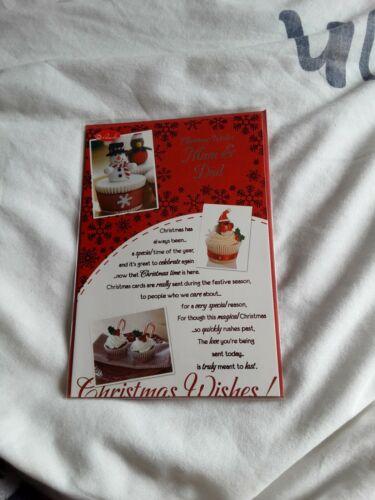 cakes Mum and dad Christmas Card BNIP