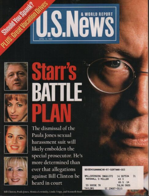 US News April 13 1998 Bill Clinton, Monica Lewinsky w/ML ...