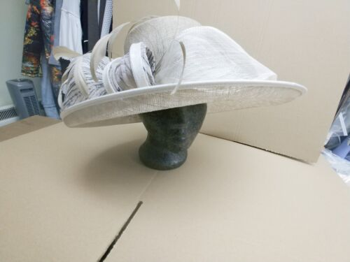 Condici Hat Mother of the Bride Sparks Regal Gold Beige Cream Wedding BNWT £245