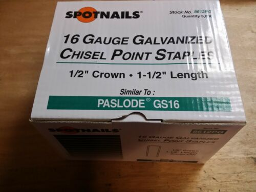 "8612PG 5000 12"" CR STAPLES 16G FITS PASLODE GS S200S16 DECKING STAPLES"