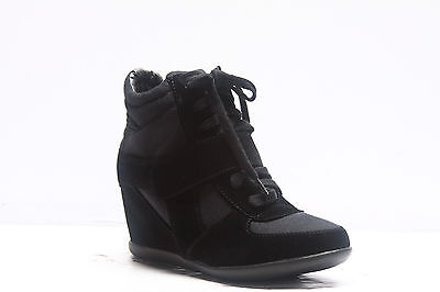 Women's Fashion Lace Up Velcro High Top Ankle Wedge Heels Sneaker Boots Shoes