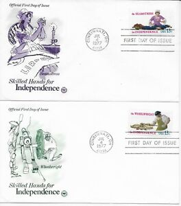 US-Scott-1717-20-First-Day-Covers-7-4-77-Cincinnati-Singles-Independence