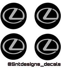 LEXUS LOGO WHEEL CENTER CAP VINYL DECAL STICKERS (Any Color)