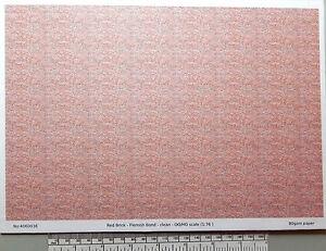 OO-HO-gauge-1-76-scale-red-brick-paper-A4-sheet