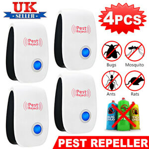 8x Ultrasonic UK Plug In Pest Repeller Night Light Mouse Mice Rat Spider Insects