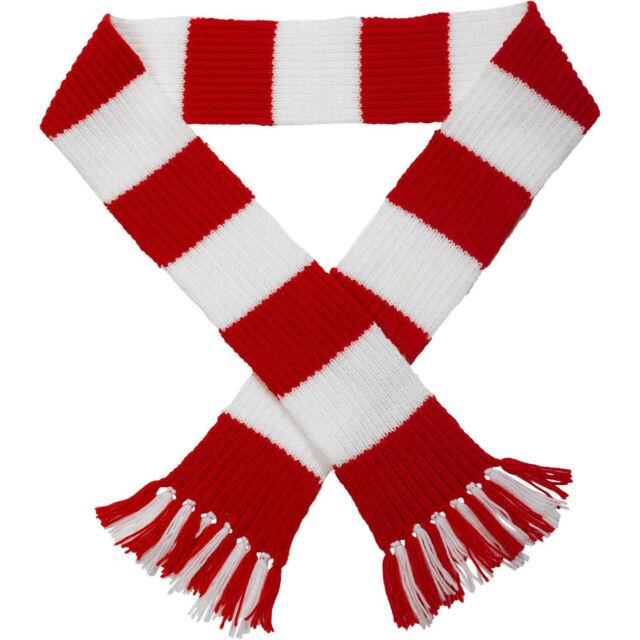 Premier League Team Striped Football Scarf Knitting Pattern Wool