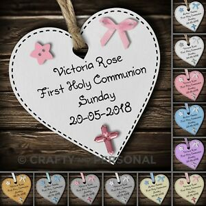Personalised-1st-First-Holy-Communion-gift-plaque-wooden-heart-keepsake-present
