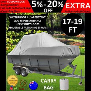 17FT-18FT-19FT-BOAT-COVER-Trailerable-Waterproof-Jumbo-Straps-Zip-UV-5-2M-5-8M