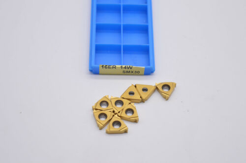 10pcs ( 16ER 14W SMX30 )  Carbide Insert For Threading Turning Tool Boring BAR