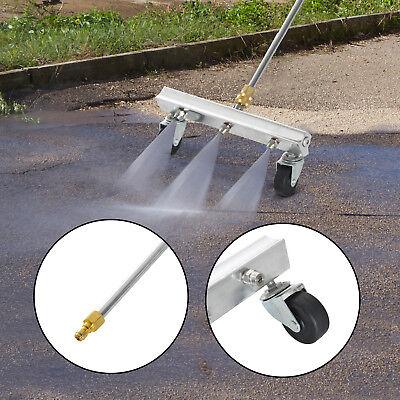 31cm Width General Pump Pressure Washer Water Broom Wheels 3000PSI Durable Sweep