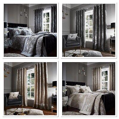 Catherine Lansfield Crushed Velvet Luxury Duvet Quilt Cover Bedding Set