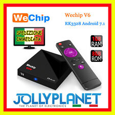 Android 7.1 V6 Wechip Quad Core 2GHz 1GB 8GB TV BOX 4K 60fps IPTV WiFi S905X