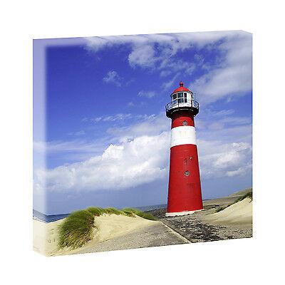Bilder Keilrahmenbild  Leinwand Keilrahmen XXL Leuchtturm Holland 80cm*80cm 311