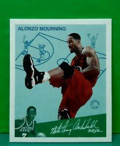 Alonzo Mourning insert card Goudey Greats 1997-98 Fleer #7