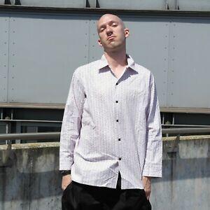 Veb Permaflott 70er Rda 70 S Fushia Chemise Manches Courtes True Vintage Jaune Mens Shirt-afficher Le Titre D'origine