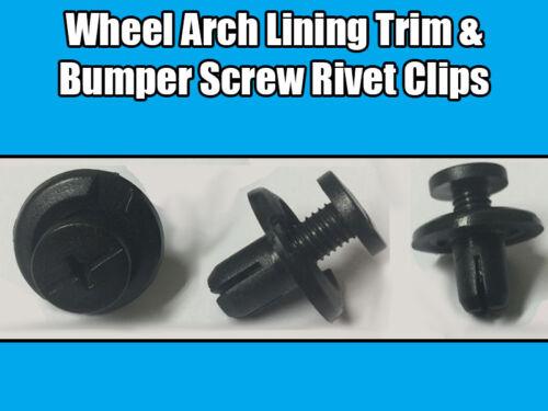 50x 8mm Clips For Honda CRX Wheel Arch Lining Splashguard Bumper Screw Rivets