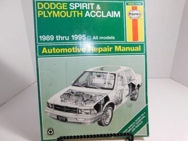 Repair Manual Haynes 30060 For Dodge Spirit And Plymouth