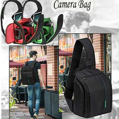 DSLR Camera Backpack Rucksack Bag Waterproof Case For Canon For Nikon For Sony