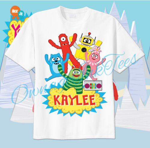 Yo Gabba Gabba Custom T-shirt Personalize tshirt Birthday gift Plex Foofa Brobee