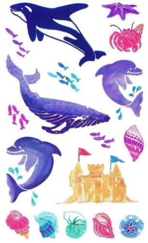 ~ Retired NLA Posh Dolphin Killer Whale Sand Castle Sea Mrs Grossman Stickers ~