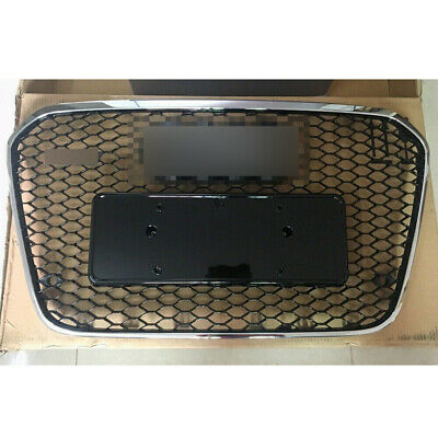 RS Style Grille Fit For Audi A6 C7 S6 Silver Frame Grill 2013 13 14 15
