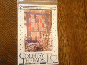 Country threads mittens for molly applique quilt patterns