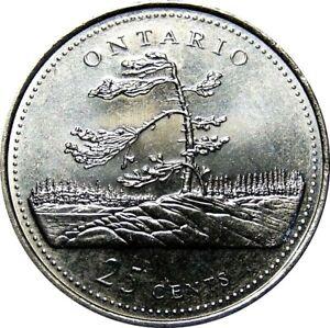 1992-Canada-125th-Ontario-25-Cents-Gem-BU-UNC-Quarter