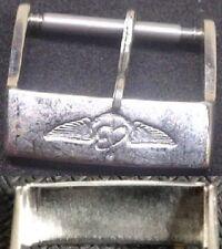 Original Vintage Breitling Buckle Fibbia 18mm Stainless Steel Light signs L@@K !