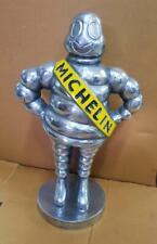 Michelin Man Bibendum Polished Aluminium Collectable Mascot Silver Enamelled