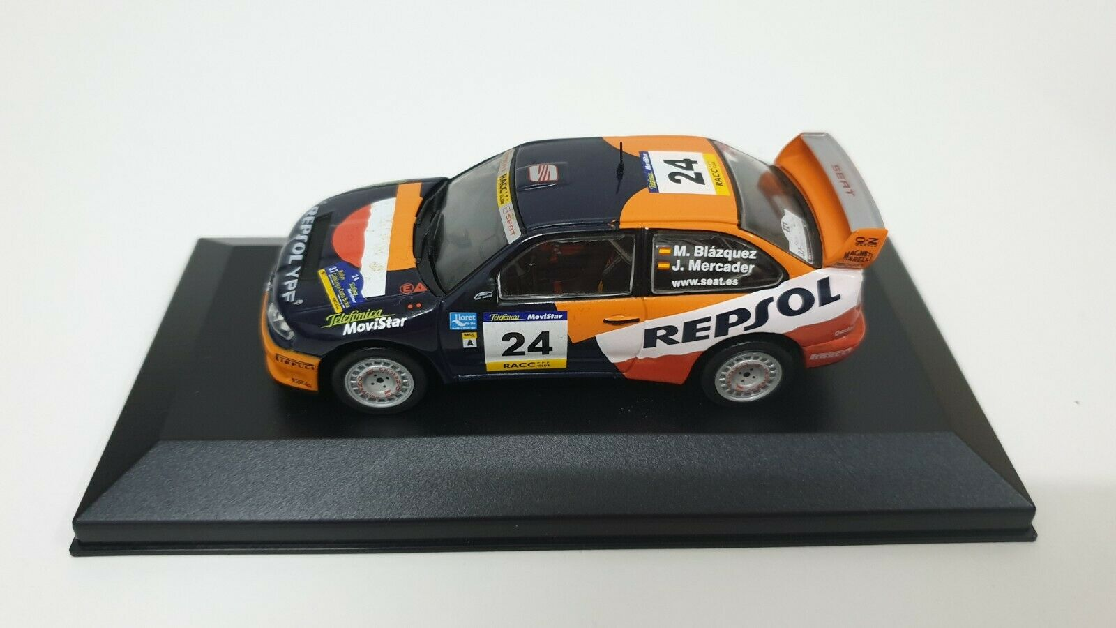 1 43 SEAT C. 65533;65533;, RDOBA WRC EVO III M. BL TRANS5533;65533;, ZQUEZ  J. MERCADER -rally CATALUNYA 2001