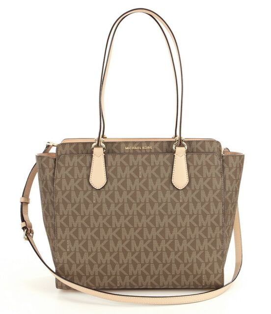 8c43c333ad1615 Michael Kors Dee Deejet Set Logo Large Tote Mocha Brown for sale ...