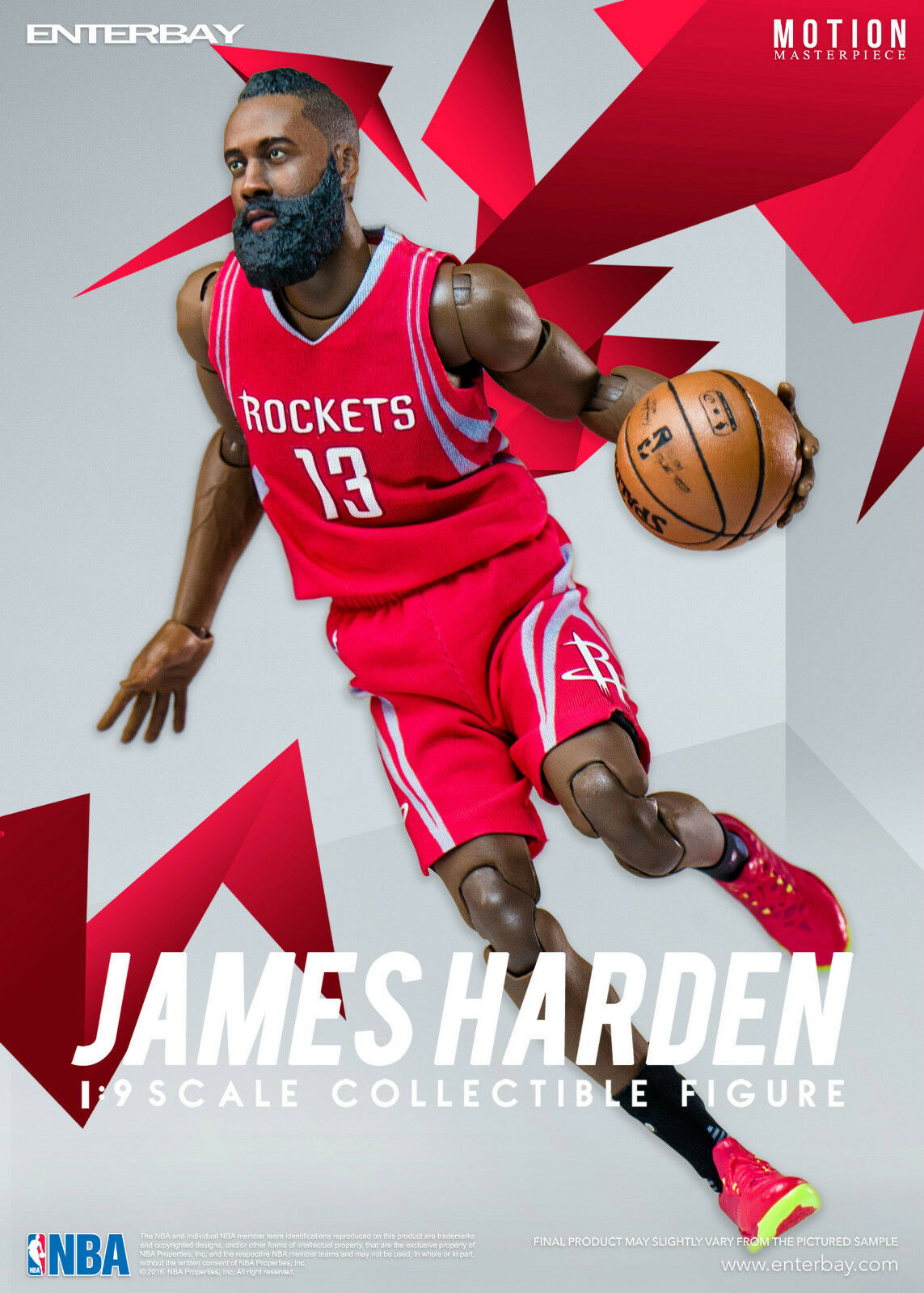 NBA COLLECTION  JAMES HARDEN MOTION MASTERPIECE 1 9 Action Figure 8  ENTERBAY