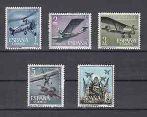 ESPANA-1961-NUEVOS-SIN-FIJASELLOS-MNH-SPAIN-EDIFIL-1401-05-AVIONES