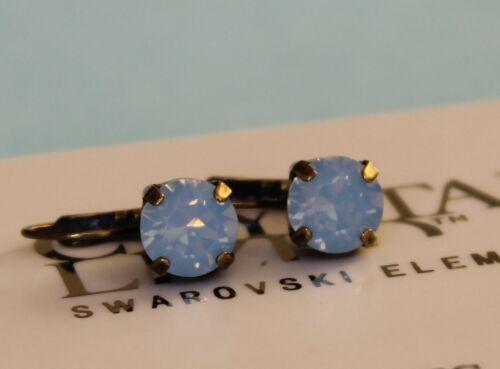 Ópalo azul de aire criolla pendientes Hecho Con Elementos Swaroski elija su acabado