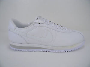 brand new a5144 901bf Image is loading Nike-Cortez-Mens-White-Leather-Casual-Shoes-NWD-