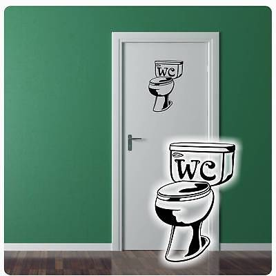 Toilette Turaufkleber Wc Wandtattoo Badezimmer Tur Aufkleber Bad Kuche T014 Ebay
