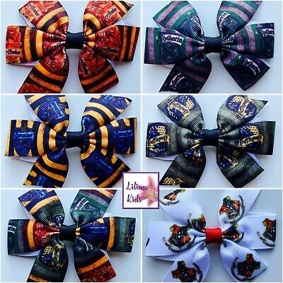Harry Potter House Glitter hair bows-Gryffindor//Slytherin//Ravenclaw//Hufflepuff