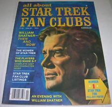 ALL ABOUT STAR TREK FAN CLUBS #3 MAGAZINE (1977) WILLIAM SHATNER (FN/VF)