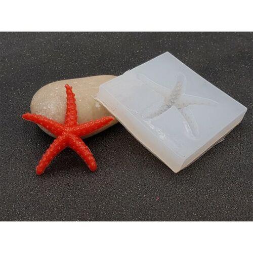 Neuf Moule en silicone étoile de mer pour créations en résine ou fimo