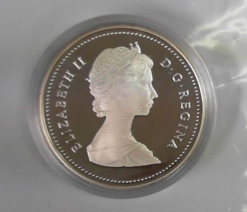 1987 Canada Detroit De Davis Strait Silver Dollar Proof W//Box /& COA